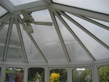 After: this internal shot illustrates the new Insu polycarbonate panels.