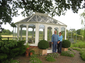 After: conservatory after fitting of the new polycarbonate roof.