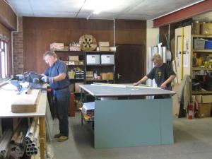 The HTG conservatory refurbishment team