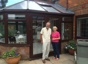 With the new conservatory roof panels