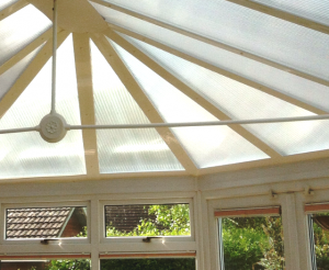 Noisy polycarbonate conservatory roof