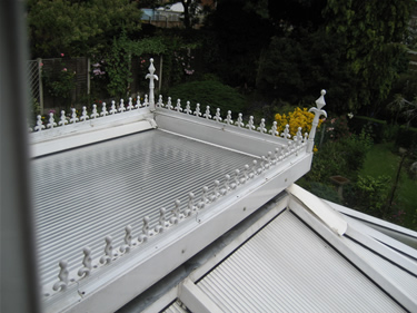 After: the new Insu polycarbonate panels certainly make a difference in this unusual roof design.