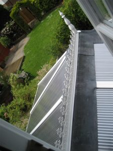 After: the roof has been totally refitted with new Insu polycarbonate and lead flashing.