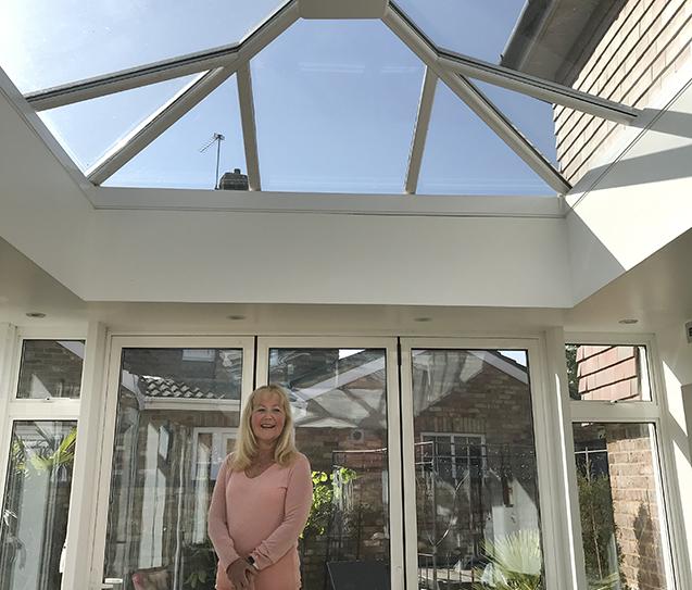 Heat reflectors for conservatory comfort.