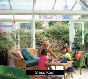 New glass conservatory roof.
