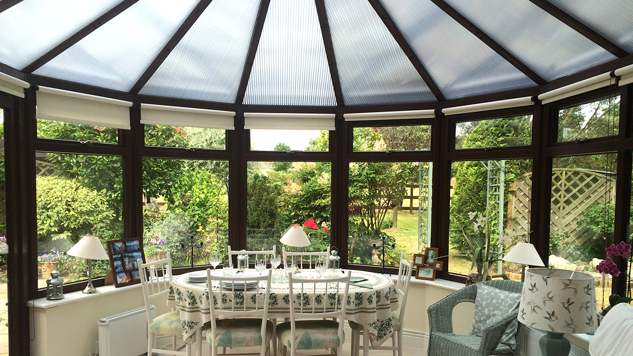 Conservatory warm and comfortable in the winter